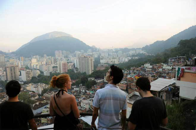 Tour group in Rio favela