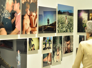 "A view of  ""Relationship"" (2008–13), forty-six chromogenic prints,"
