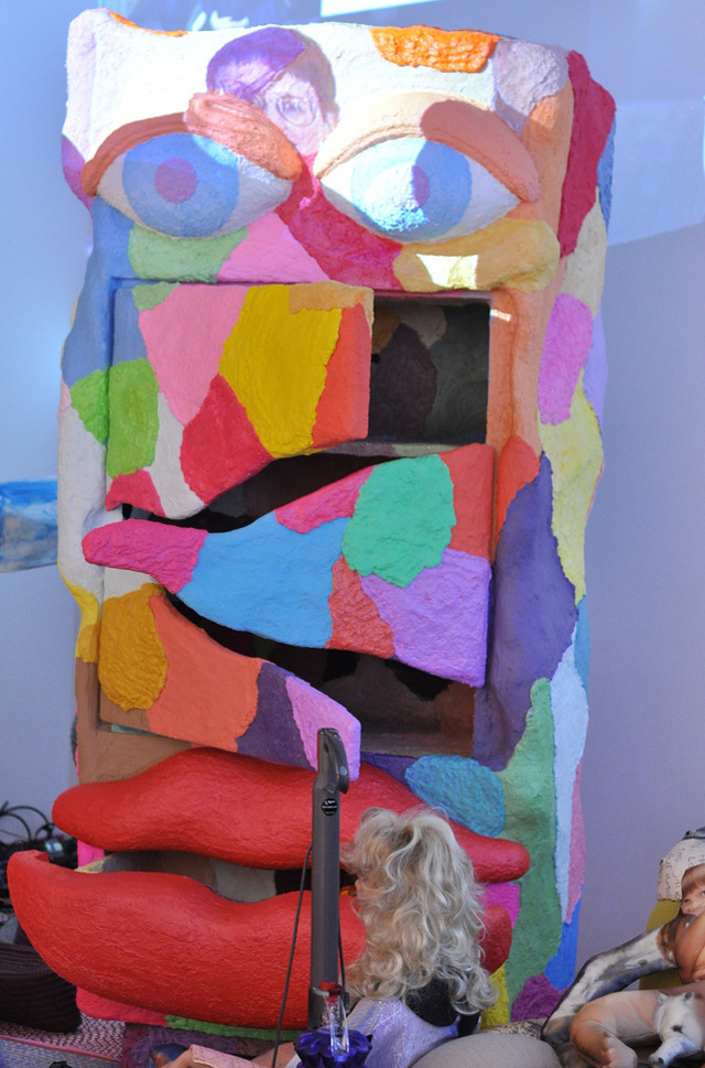 Another view of Bjarne Melgaard's untitled installation