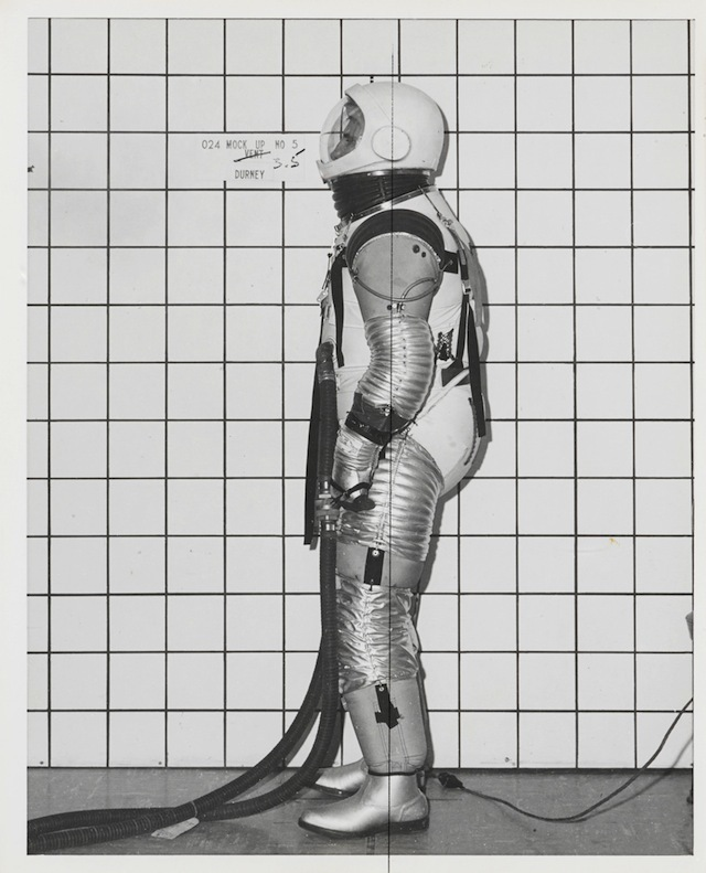 SPACE SUIT DEVELOPMENT PHOTOGRAPHS.  Collection of 70 photographs (67 black and white, 3 color), mostly 10 by 8 inches, 1960s  Est. $ 700 - 1,000