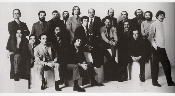 The staff of Push Pin Studios (image via miltonglaser.com)