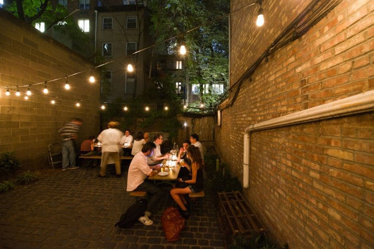 Dine al fresco, like in the back garden of The Cannibal in the Flatiron District.