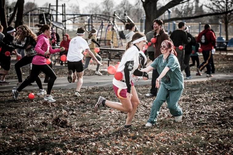 Run from Zombies in The Zombie Run, a part race, part obstacle course, part survival game on May 10.
