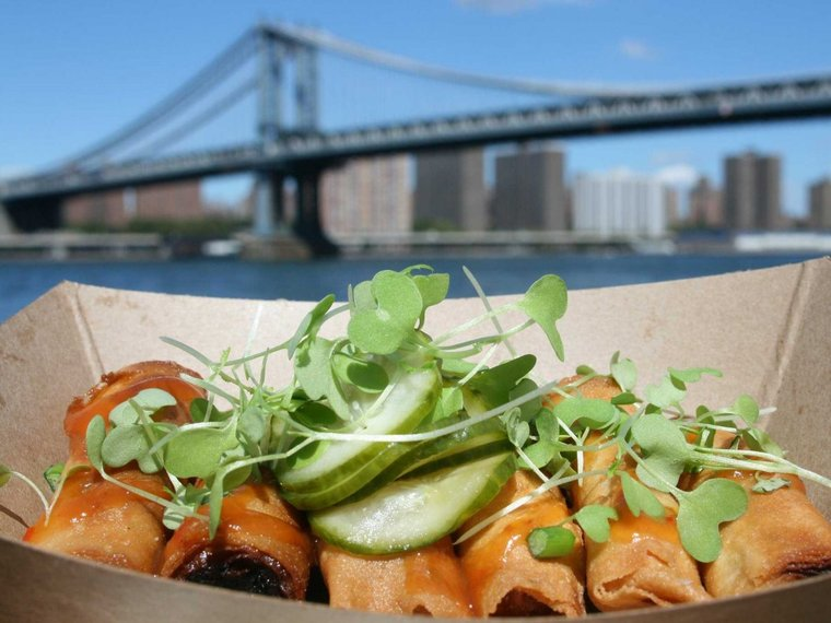 Chow down along the water when Brooklyn's Smorgasburg reopens its outdoor market on April 6.