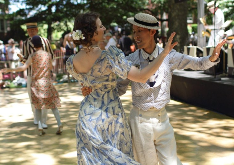 Don your best vintage costume and dance the Charleston at the Jazz Age Lawn Party on Governor's Island, June 14-15.
