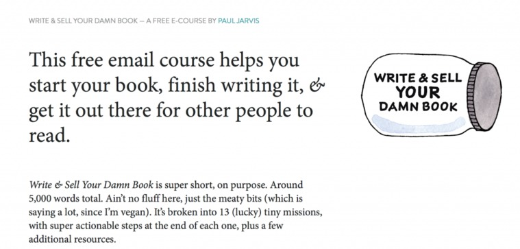 Free Email Course on Book Writing